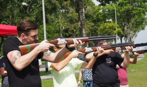 laser clay shooting for corporate