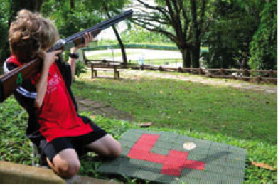 kids laserclay shooting